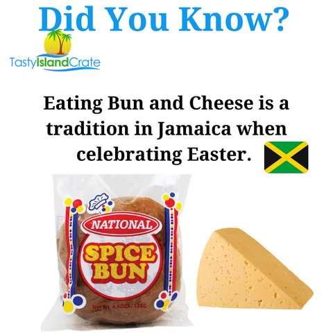 Bun and cheese - easter tradition