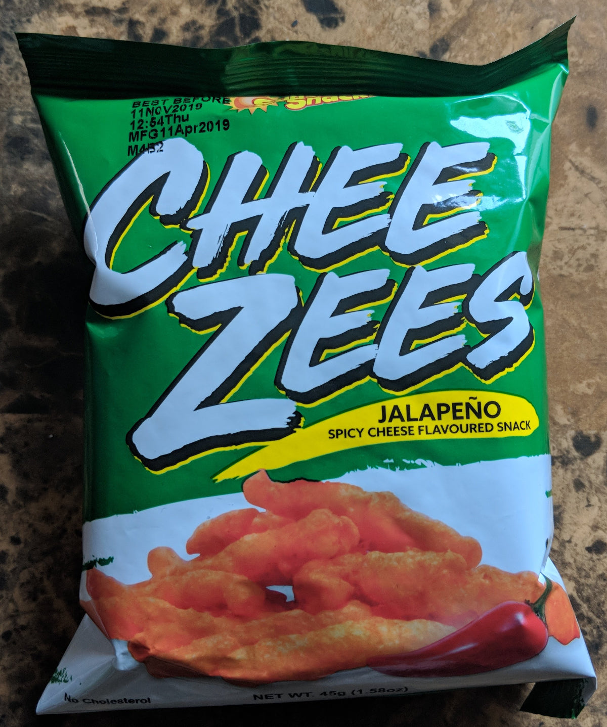 cheezes cheese snack- Jalepeno flavor- Sunshine snacks