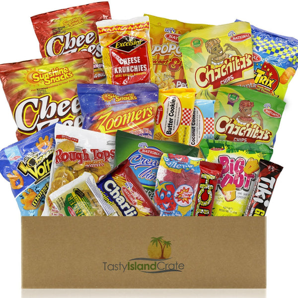 JUMBO Island Crate- 20+ FULL SIZED Caribbean snacks