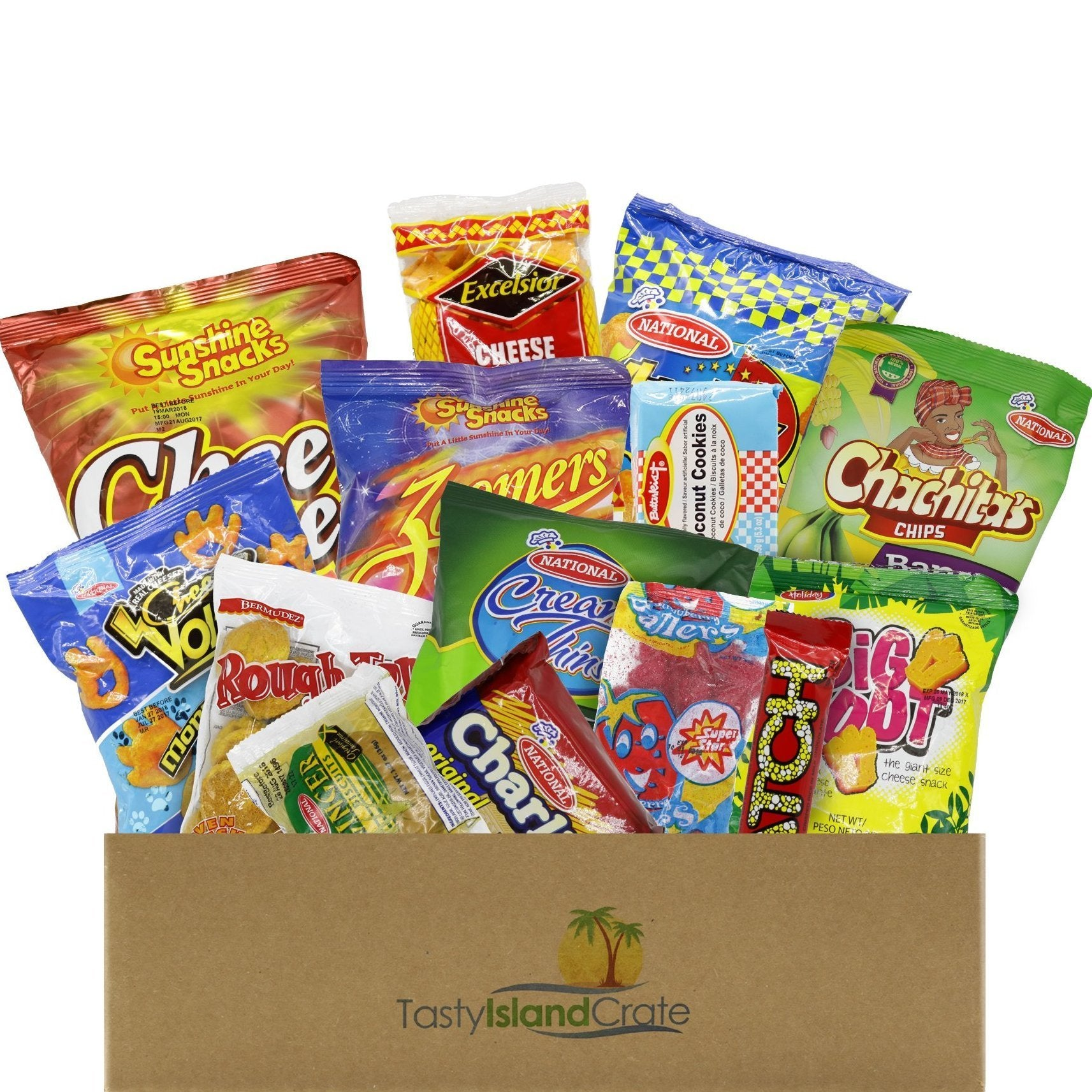 Large Island Crate- 15+ FULL SIZED Caribbean snacks