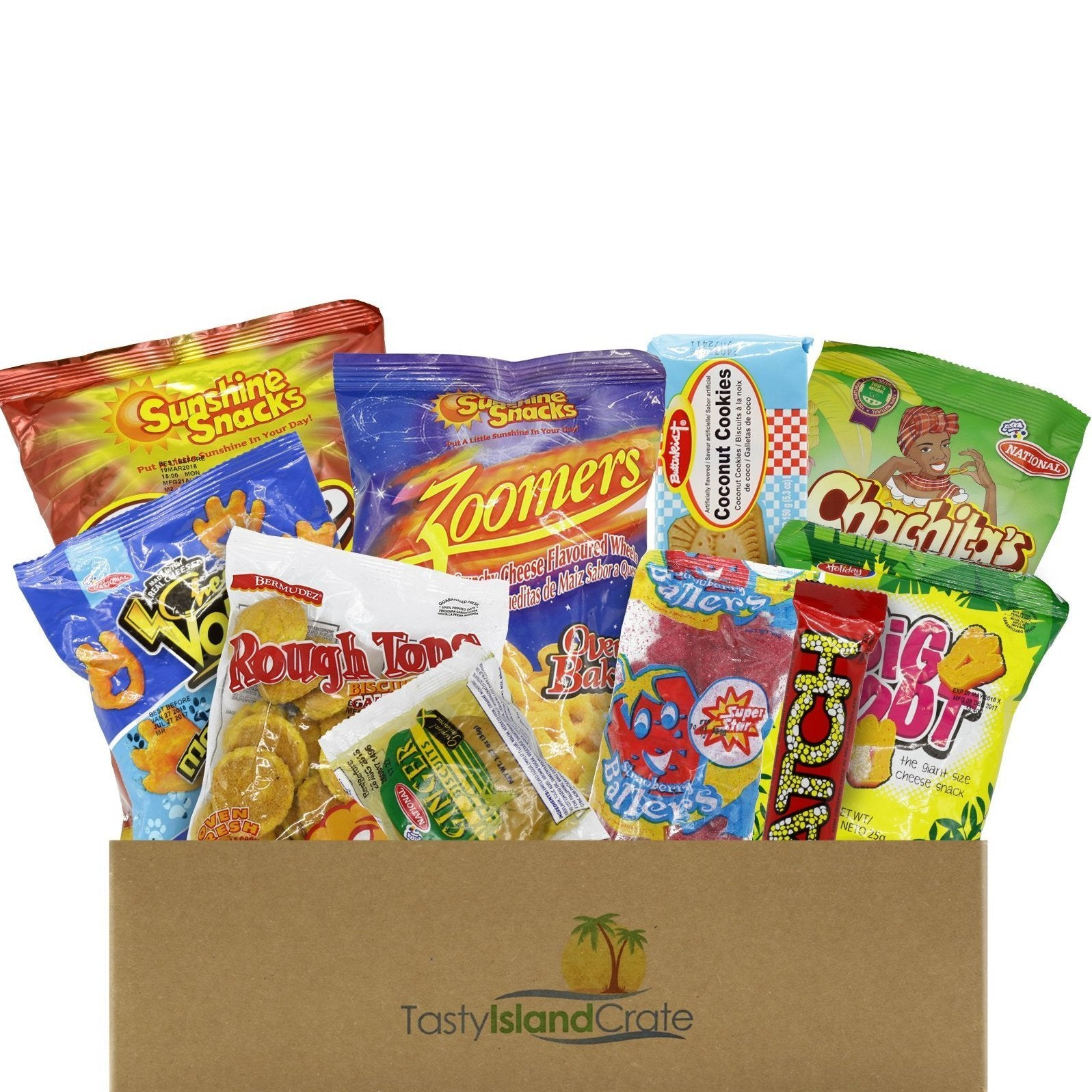 Original Island Crate - 10+ FULL SIZED Caribbean Snacks