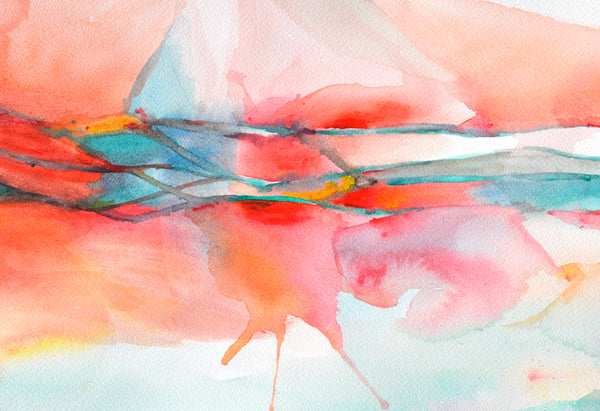 brachial plexus in red abstract anatomy watercolor