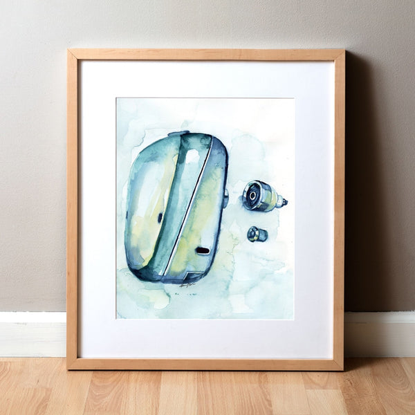 BAHA Implant Watercolor Print