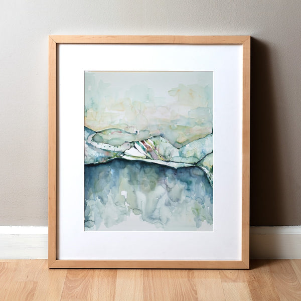 Auditory Horizons: The Organ of Corti - Watercolor Print - Sense Art - Abstract Anatomy Art
