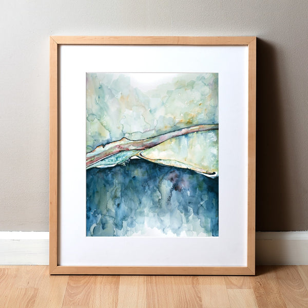 Visual Horizons -Watercolor Print - Sense Art - Abstract Anatomy Art