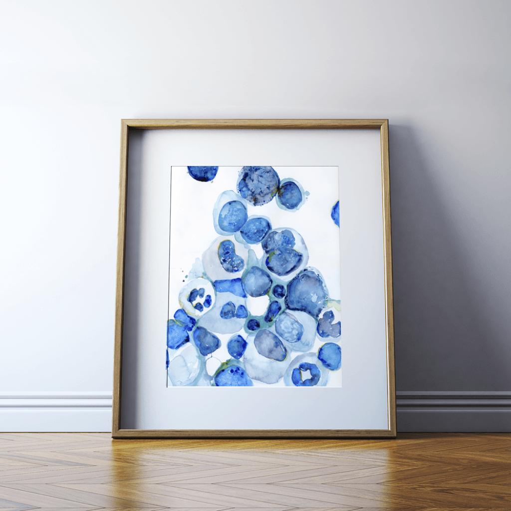Bone Marrow Watercolor Print