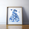 Bone Marrow Histology Watercolor Print