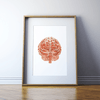 Brain in Clay Red Print