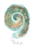 Cochlea Stationery ENT Greeting Card