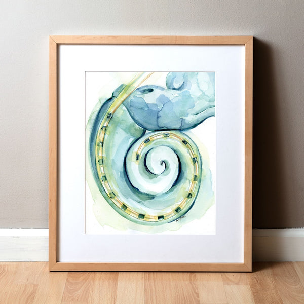 Cochlear Implant Watercolor Print