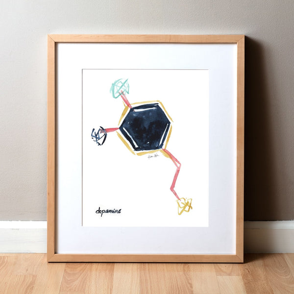 Dopamine Watercolor Print - Happy Hormones