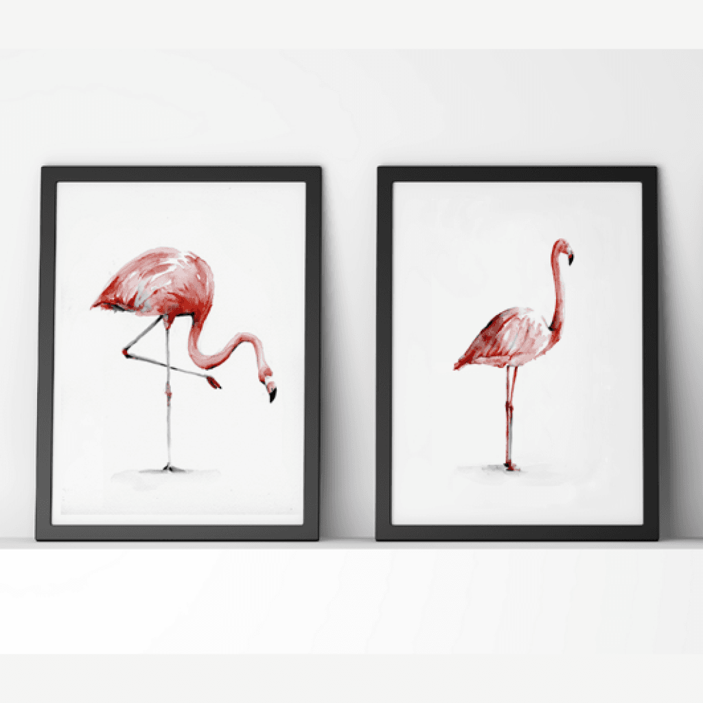 Flamingo Print Set
