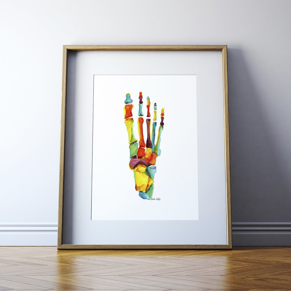 Bright Bones of the Foot Print