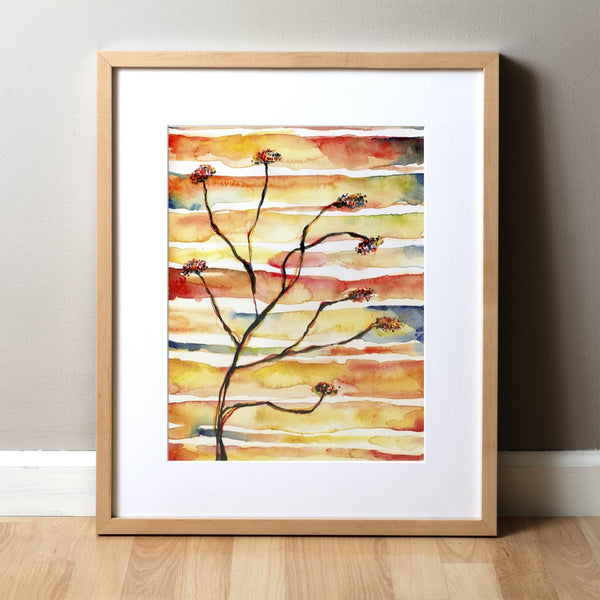 Neuromuscular Juncture Watercolor Print