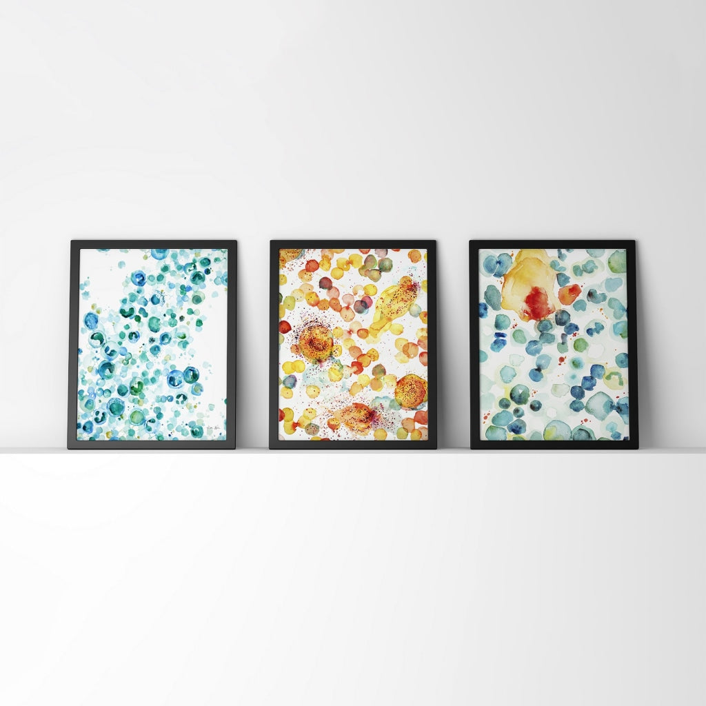 Histology Watercolor Prints Set of 3