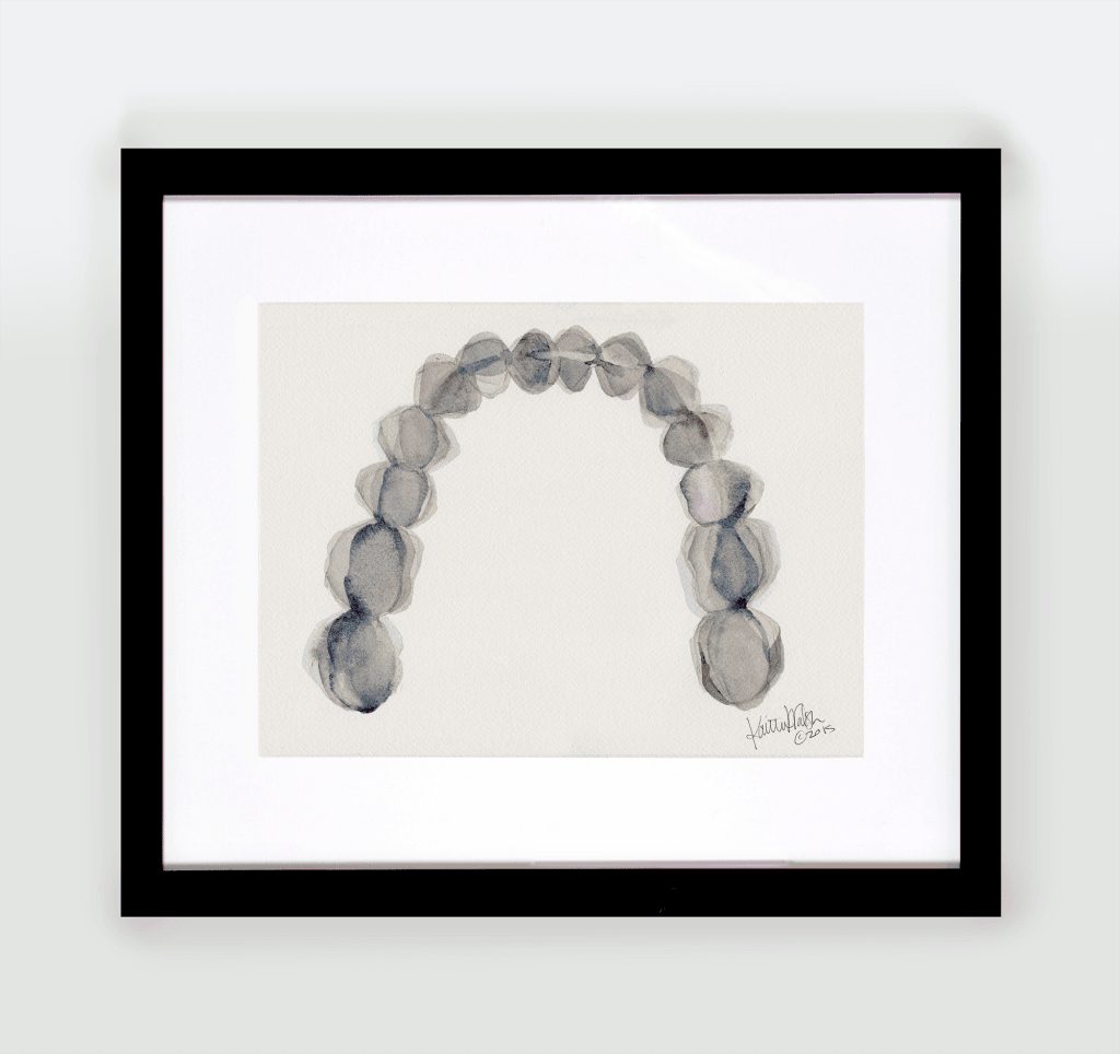 Blue Gray Arch Watercolor - Original