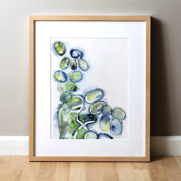 Influenza Histology Watercolor Print