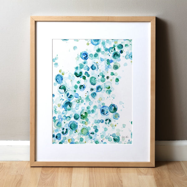 Hematology Bubbles Watercolor Print