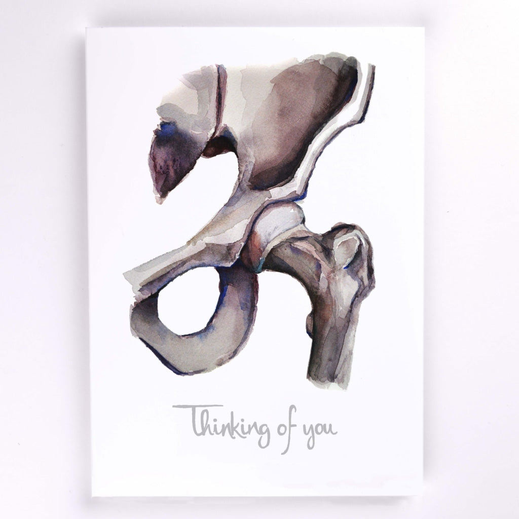 Hip Joint Stationery Orthopedics Greeting Card