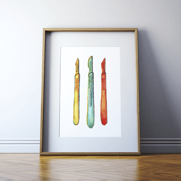 Surgical Scalpels Print