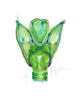 Larynx in Green Print