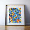 Abstract Mitochondria Print