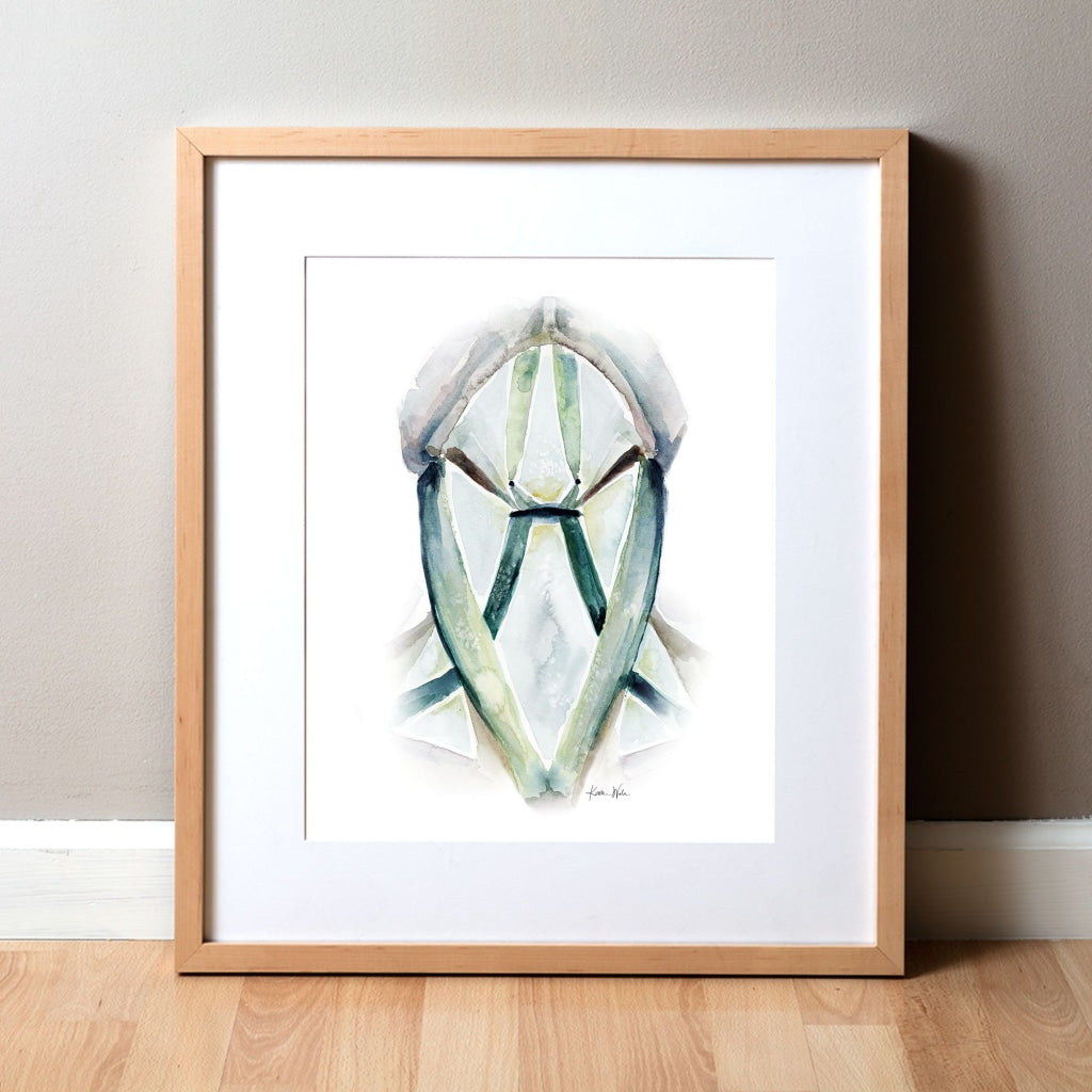 Neck Triangles Watercolor Print