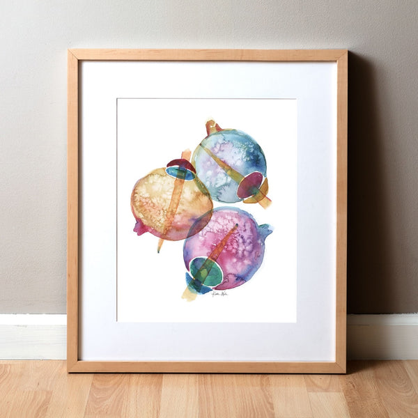 Opias Watercolor Print