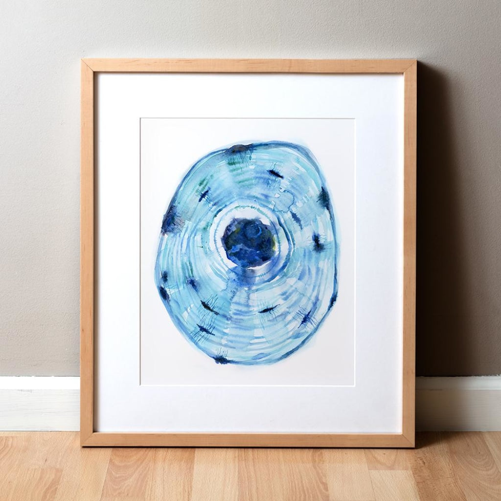 Osteon Watercolor Print