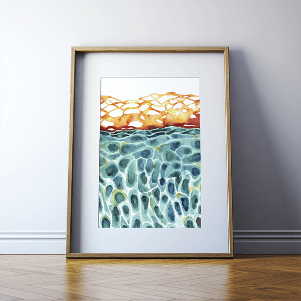 Skin Cells Watercolor Print