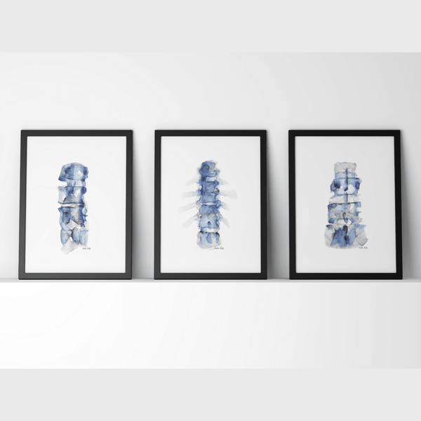Blue Spine Print Set