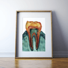 Molar Cross Section Print in Teal