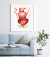 Female Pelvic Anatomy Stack Watercolor Print
