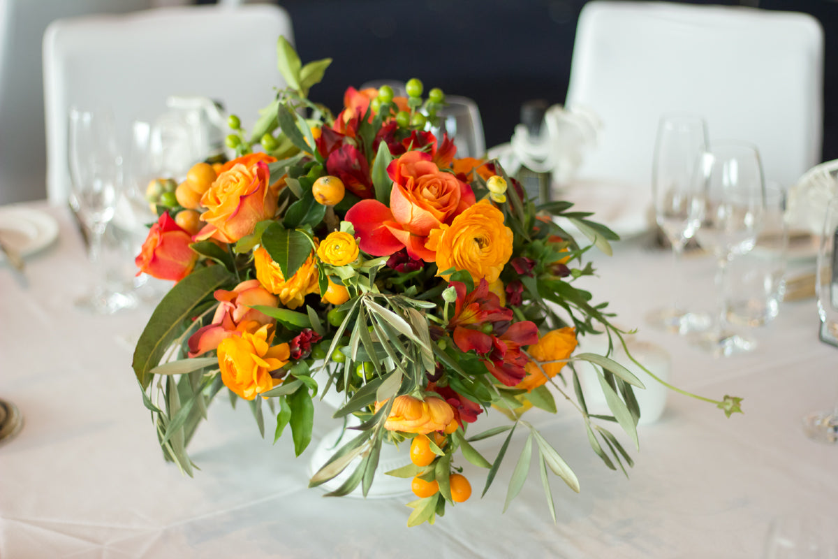 fresh flower centerpieces for wedding