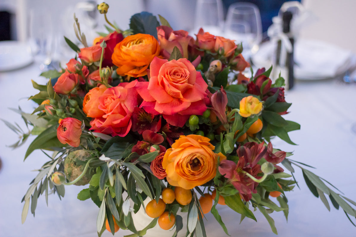 colorful Wedding flower centerpiece