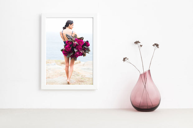 Hot Pink Peony Photographic Print