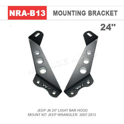 Flat Mount Light bar brackets (Pair)