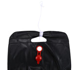 20L / 5 Gallons Solar Energy Heated Camp Shower Bag Utility Black PVC Shower