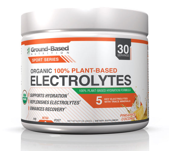 Organic Plant-Based Electrolytes – 30 Servings (Pineapple Coconut)