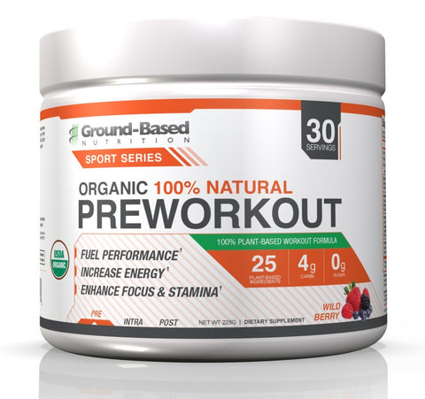 Organic Pre Workout - 30 Servings (Wild Berry) - Limited Promo