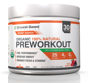 Organic Pre Workout - 30 Servings (Wild Berry)
