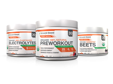 Ultimate Sport Series Stack | ENERGY, ENDURANCE, and RECOVERY | PreWorkout + Beets + Electrolytes