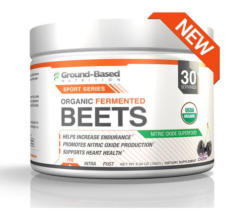 Organic Fermented Beets – 30 Servings (Black Cherry) - Plant Based Protein