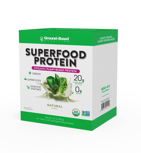 Superfood Protein – 10 Pack Carton (Unflavored)  15% Off Auto renew + Superfood Protein – 14 Serving Bag (Chocolate)  15% Off Auto renew