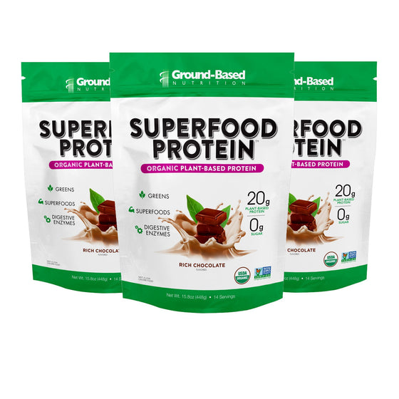 Superfood Protein – 3 PACK BUNDLE - 14 Serving Bag (Chocolate)