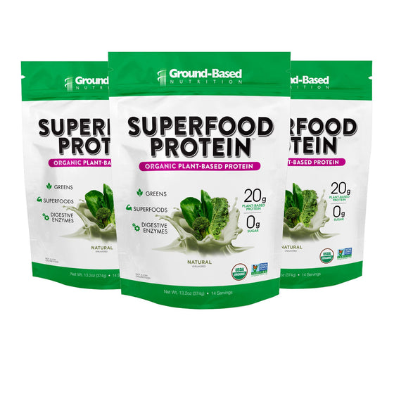 Superfood Protein – 3 PACK BUNDLE - 14 Serving Bag (Unflavored)