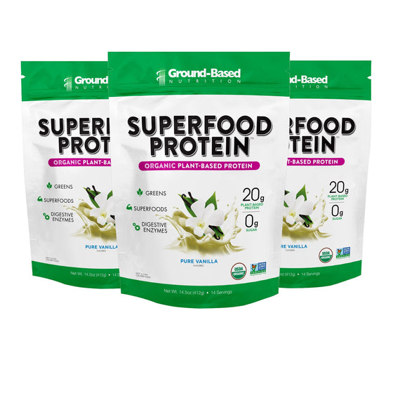Superfood Protein – 3 PACK BUNDLE - 14 Serving Bag (Vanilla)