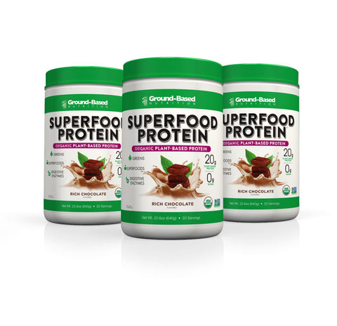 Superfood Protein – 3 PACK BUNDLE - 20 Serving Tub (Chocolate)
