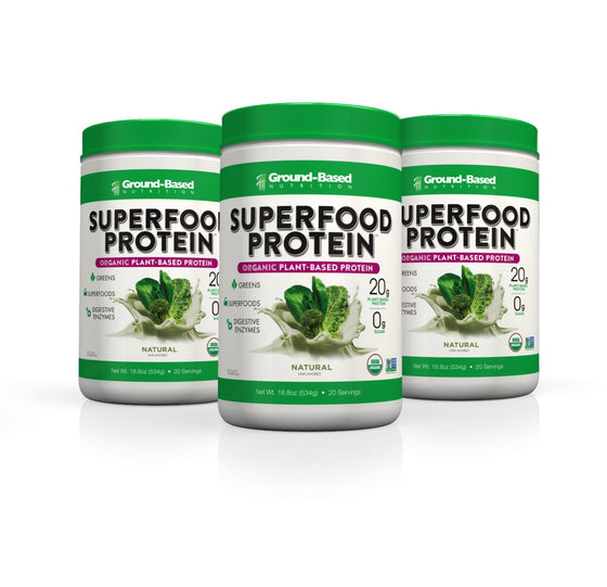 Superfood Protein – 3 PACK BUNDLE - 20 Serving Tub (Natural)