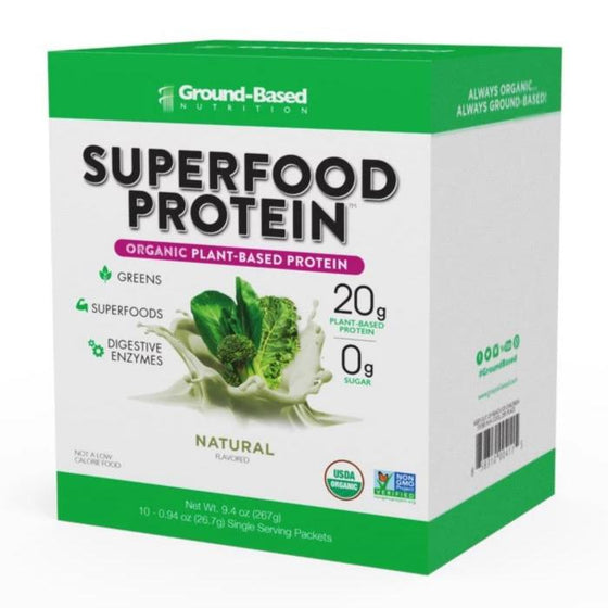Superfood Protein – 10 Pack Carton (Unflavored)
